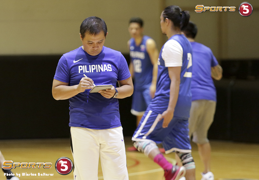 7S1A3464 Coach Chot Reyes is making a Gilas list and checking it twice