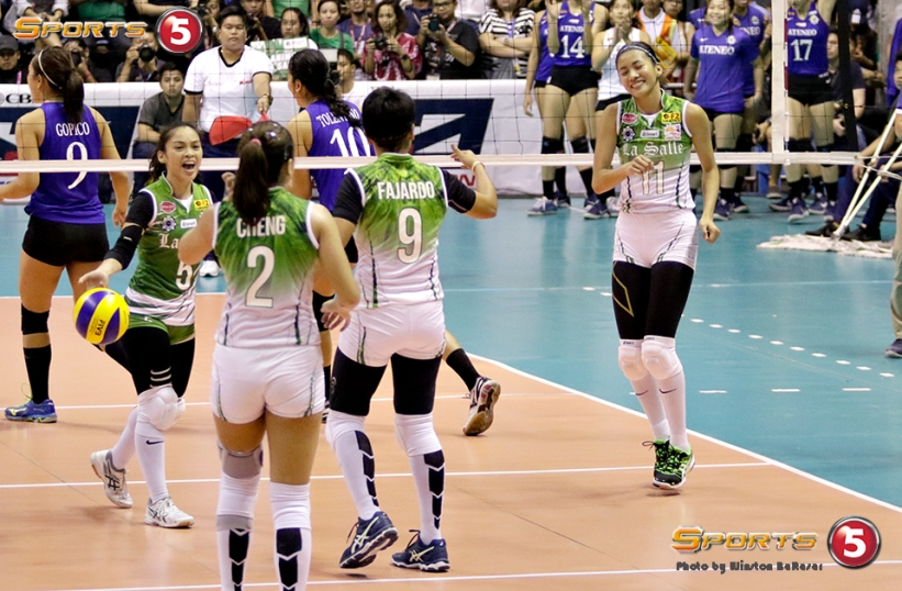 _S1A0245 DLSU's Kim Dy is high with 19 points off 15 kills and 3 blocks