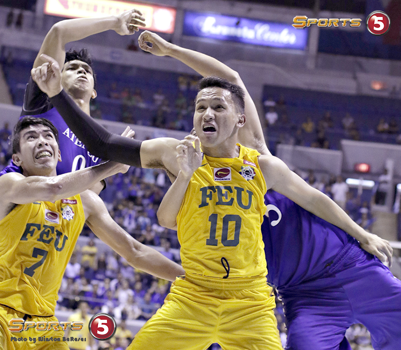 _S1A6398 FEU's Comboy and Dennison battle for the rebound