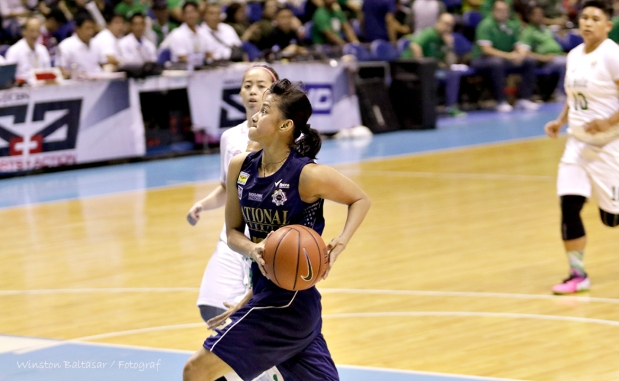 NU's All-Star Afril Bernardino gets away for two