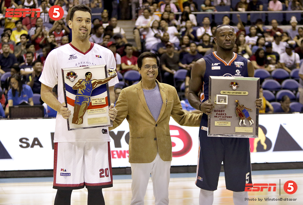_S1A8548 Ginebra's Greg Slaughter wins Best Player of the Conference and Allen Durham wins Best Import
