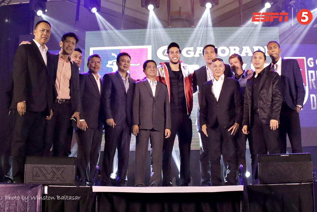 _S1A4569 Number one draft pick Christian Standhardinger with the San Miguel Beermen