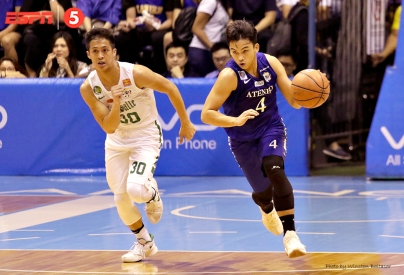 Anton Asistio on the break with Andrei Caracut following behind