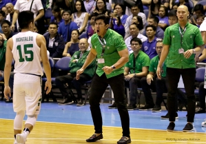 Coach Aldin Ayo is not happy about Kib Montalbo's behind-the-back pass